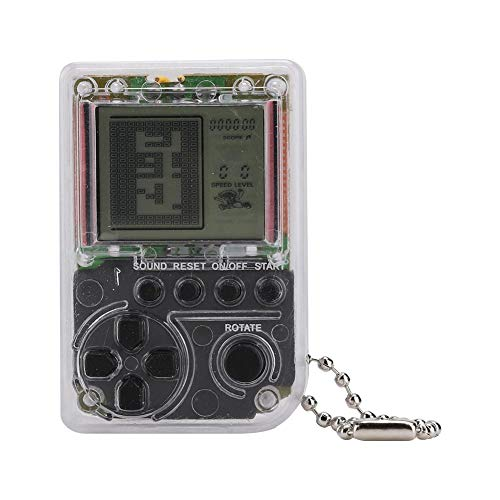 FastUU Mini Consola de Juegos, portátil Gris para la máquina de Juegos Tetris Retro Nostalgic Mini Classic, Compatible con la Consola de 26 Juegos, Conveniente para Jugar en Cualquier Lugar