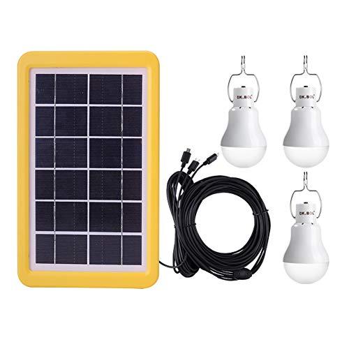 Solar Lamp Solar Lamp Draagbare LED Licht Zonnepaneel Aangedreven Oplaadbare Lichten met Sensor voor Huis Schuur Binnen Outdoor Emergency Wandelen Tent Camping