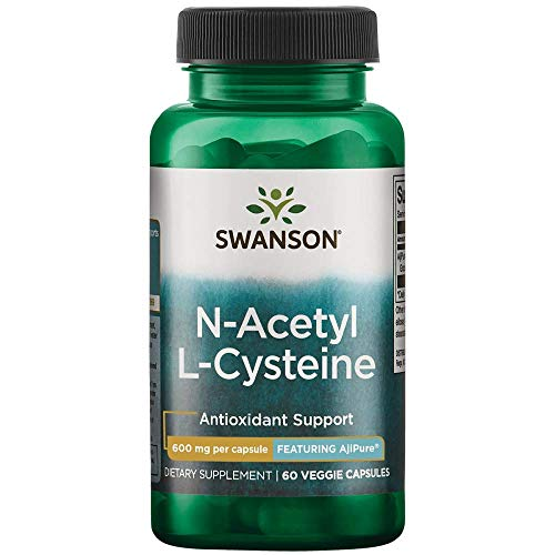 Swanson Amino Acid Ajipure N-Acetyl-L-Cysteine Pharmaceutical Grade 600 Milligrams 60 Veg Capsules