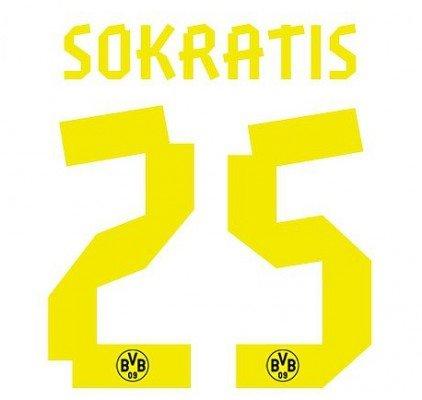Flock Original BVB Borussia Dortmund Trikot gelb - SOKRATIS 25, Größe:klein