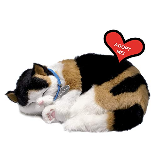 Original Petzzz Calico Cat, Realistic, Lifelike Stuffed Interactive Pet Toy, Companion Pet Cat with 100% Handcrafted Synthetic Fur – Perfect Petzzz