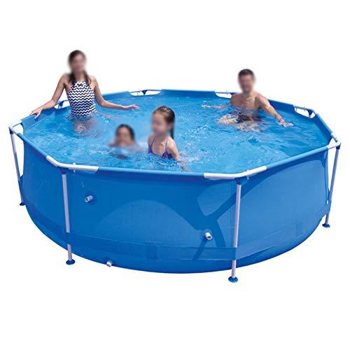 Piscina de bracket, estanque de peces, piscina de remo, piscina inflable familiar, piscinas inflables de tamaño completo, piscina de explosión al aire libre, extra grande y fácil y azul.300x76cm (118x