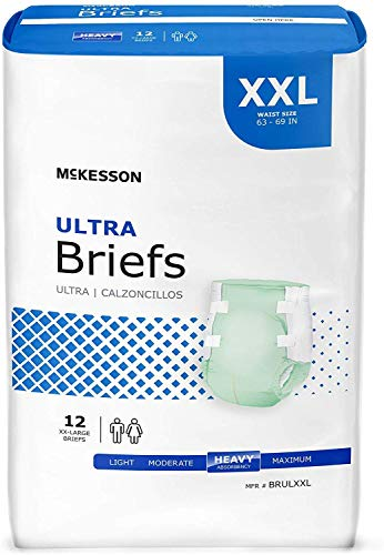 Adult Cloth-like Breathable Material Brief, Contoured StayDry, Size XXL - 63 to 69 Inch Waist, Heavy Absorbency, 1 case of 48 Briefs Included