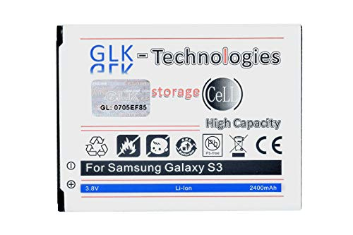 High Power Ersatzakku kompatibel mit Samsung Galaxy S3 i9300 LTE i9305 | Original GLK-Technologies Battery | accu | 2400 mAh Akku | NEU (Galaxy S3)