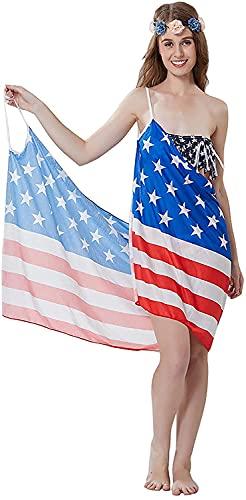 HSWYJJPFB Poncho Surf Longitud de la Cubierta de la Playa Sarongs Chal de Gasa Ropa de Playa Bikini Traje de baño Vestido de urdimbre para Las Vacaciones de Verano Towel Robe 0207(Color:Blue;Size:M-M