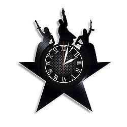 Vinyl Record Wall Clock Compatible with Hamilton Themed Home Decor - Living Room Wall Clock Hamilton Wall Art Decor for Adults