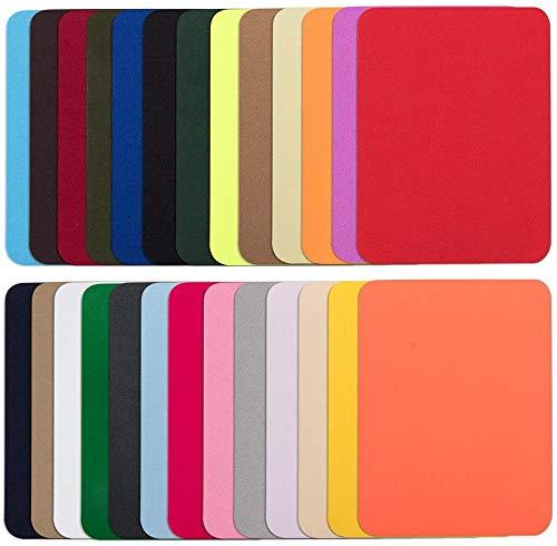 Parches de Tela Vaqueros 26 Colores kit de Reparación de Ropa 5 x 3.8 Pulgadas para Ropa Falda Chaqueta Bolsas Bricolaje Patrones Manualidades