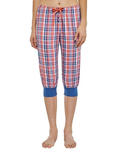 Uncover by Schiesser Damen Woven Pants 3/4 Schlafanzughose, Rot (Koralle 517), 36 (Herstellergröße: S)
