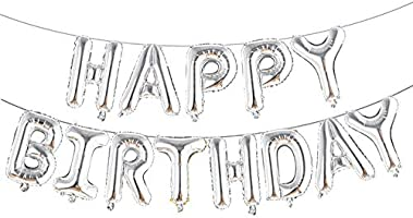 Aluminum Foil Banner Balloons for Birthday Party