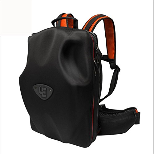 Laptop Backpack 15 (15/15.4/15.6/17 / 17.3) Zoll High-Tech-Rucksack Eva Harte Schale Computer Schultertasche Wasserdicht, Orange, 15 inches