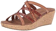 Luxe Foam cushioned contoured comfort footbed Cork wedge heeled dress casual thong sandal design