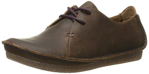 Clarks womens Janey Mae oxfords shoes, Beeswax, 7.5 US