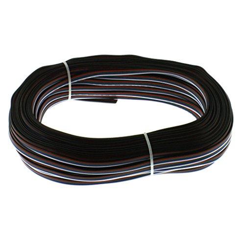 Preisvergleich Produktbild Flachbandkabel 5-polig für RGBW LED Streifen / Band; Verlängerung LED RGBW Streifen; 50 Meter