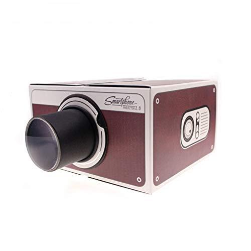 Hotaluyt DIY Mini Versión 2.0 Cartón proyector portátil de teléfono del hogar...