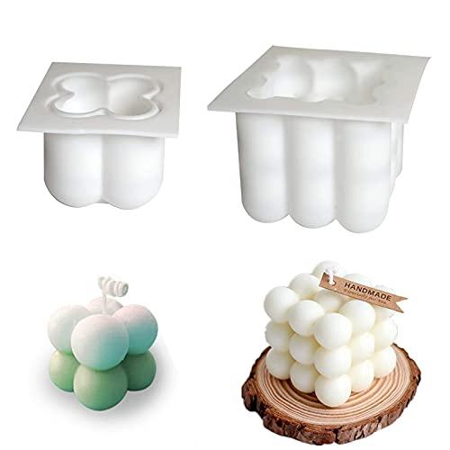 Bubble Candle - Molde de silicona 3D para velas de cera de soja hecha a mano, molde para hacer burbujas de silicona, molde de chocolate 3D, herramientas de horneado DIY para jabón, pudín, pasteles
