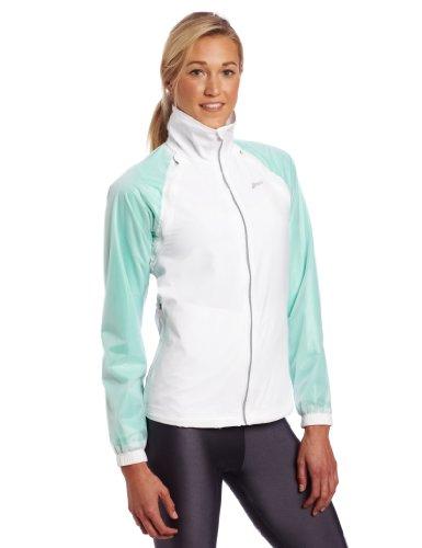 ASICS Women's 2-in-1 Jacket, Small, White/Mint