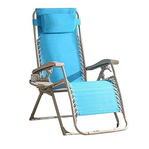 LRX Tumbona Gravedad Cero Silla Reclinable Plegable de Descanso de la Almuerzo Oficina Simple Silla del Coche de Playa al Aire Libre Que acampa Portable Tumbona de Carga de 200 kg