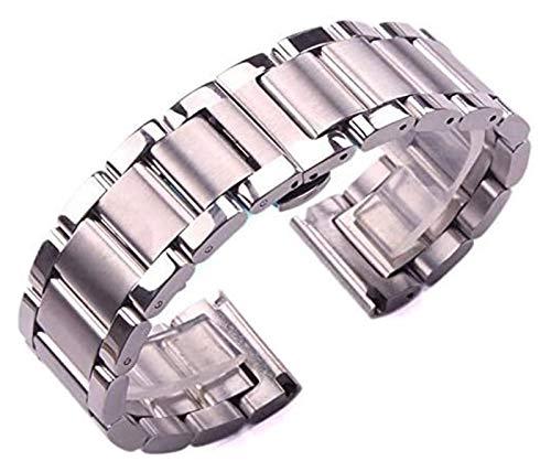 Beapet Watch Strap Solid 316L Stainless Steel Watchbands Silver 18mm 20mm 21mm 22mm 23mm 24mm Metal Watch Band Strap Wrist Watches Bracelet Bracelet (Size : 22mm)