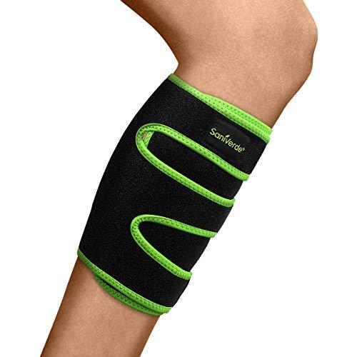 SaniVerde® Wadenbandage mit Klettverschluss Bandage für Damen und Herren - Stabilität durch Kompression, Vorbeugend bei Durchblutungsstörungen & Krämpfen