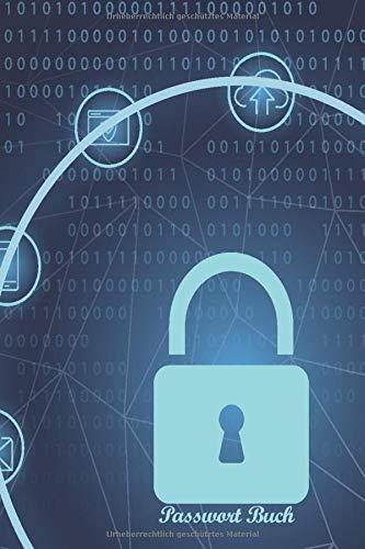 Passwort Buch: Schließe deine Passwort sicher ein | Notizbuch mit Register