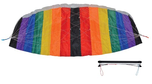 In the Breeze Black and Rainbow Power Kite, 2-Meter
