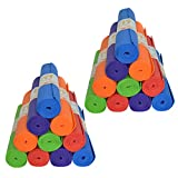 Wholesale 20 Pack Upward Fit Yoga Mats in Bulk (68' x 24' x 4mm) - Fitness, Stretching , Exercise, Camping, Classroom (Assorted)