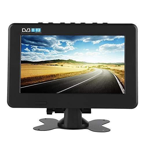 Focket Télévision numérique,Lecteur vidéo de Bureau Portable 16: 9 1080p HD stéréo avec...