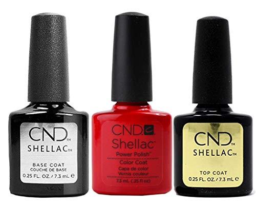 CND Original CND Shellac Wildfire Farblack plus CND Shellac Base plus Top Coat - 7.3 ml, 1er Pack (1 x 22 ml)