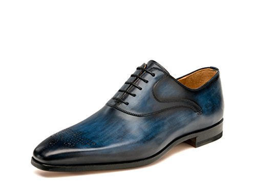 Magnanni Men's Anso Oxford, Navy, 13 M US