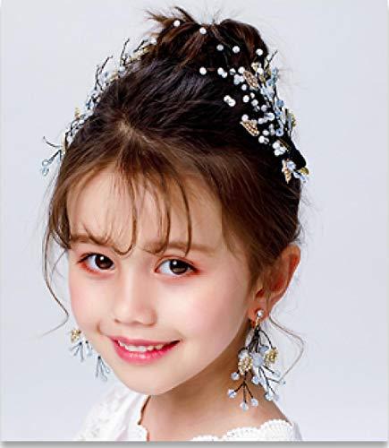 Children's Headdress Mori Super Fairy Kostuum Jurk Accessoires Fee Schoonheid Kind Haaraccessoires Oorbel Set Leuke Side Haar Clip