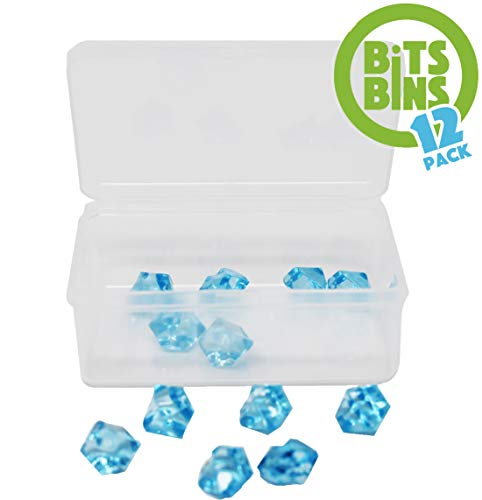 Board Game Pieces Storage Containers, Organizes Meeples, Dice, Tokens, Cards to Fit Inside the Board Game, Includes 12 BitsBins Original Measures 3.125 ' X 2.25' X 1.25'