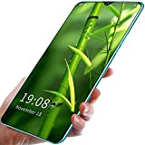 FJYDM Teléfonos Inteligentes Desbloqueados, Android 10, Teléfonos Celulares Desbloqueados con Doble SIM 5G, Pantalla De 6.5 Pulgadas, Extensión De 128GB, Teléfono con Batería De 5200Mah,Verde