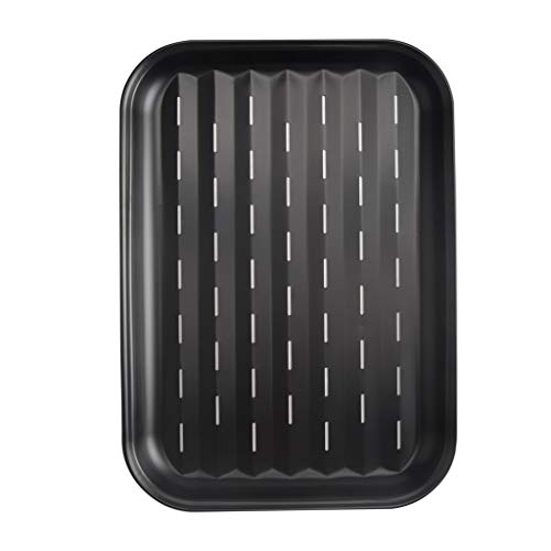 niumanery Non Stick Rectangle Barbecue Pan Cake Cheese Cookie Bread BBQ Baking Tray Plate