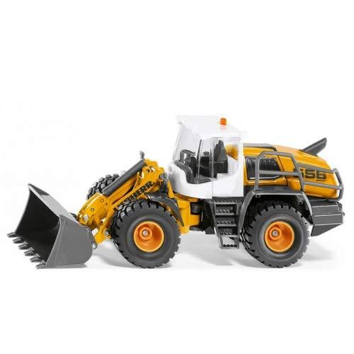 Siku 3561, Liebherr L 566 Radlader, 1:50, Metall/Kunststoff, Orange, Beweglicher Frontlader, Motorhaube zum Öffnen