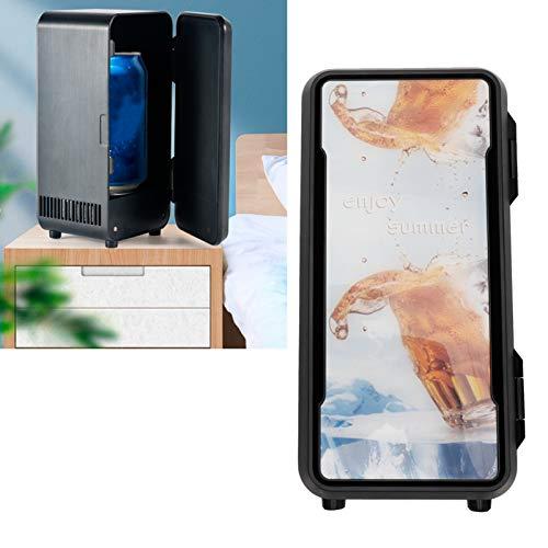 Mini Nevera para el Cuidado de la Piel - Refrigerador de Coche PortáTil MáS FríO y MáS CáLido Nevera Electrica Refrigerador Compacto para CosméTicos Bebida Cuarto Oficina Carro Viaje(Negro)