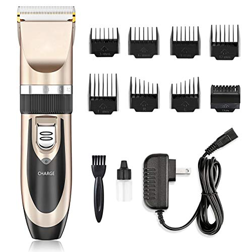 Hair Clippers - Nicewell Low Noise Hair Clippers for Men Kids, Cordless Hair Trimmer Grooming Kit with 8 Attachment Guide Combs for Hair Cutting