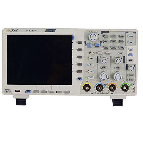 OWON SDS1104 - Osciloscopio digital (4 canales, 100 MHz, 1GS/s)