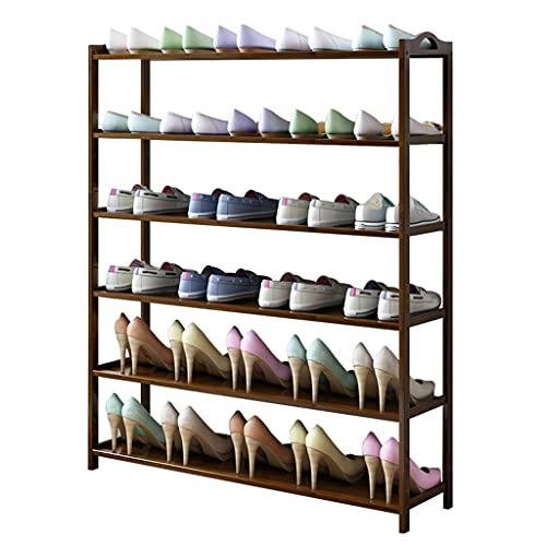 Zapatero Multi-Capa Económica zapatería Home Shoe Gabinete de Zapatos Bambú Estante de Zapatos Almacenamiento Organizador para Entrada, Pasillo y Closet Caja de Zapatos (Color : 6 layers-100cm)