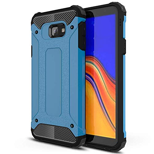 Lapinette Cover Compatibile con Samsung Galaxy J4 Plus Antiurto - Custodia Galaxy J4 Plus Protezione Antiurto - Protezione Samsung Galaxy J4 Plus Cover Antiurto Robusta Modello Armor Blu