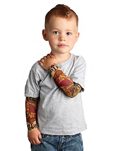 Tottude Baby Boys' Mom Heart Tattoo Sleeve T Shirt 12 Months Gray