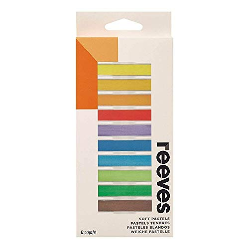 Reeves Pastel Seco 12 Cores, 8791125, Colorido