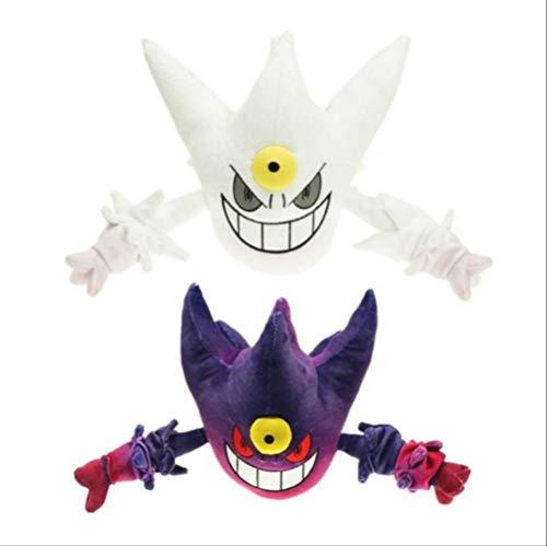 N\a Pokemon Mega Evolution Gengar Plüsch Haunter Puppe Anime Gefüllt Für Kinder Spielzeug- 20cm 2 Stück weißer Haunter und lila Haunter