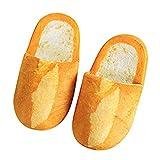 Luckycat Creativo Zapatillas de Estar por Casa Mujer Invierno Pantuflas Zapatillas Peluche Suave Zapatillas Casa para Unisexo Antideslizante Invierno Zapatillas Grueso Forma de Pan Calentar
