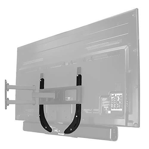 TV/Monitor Lautsprecher-Halterung, schwarz, max. Tragkraft 15 kg für Telefunken 65
