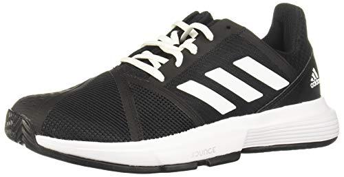 Adidas CourtJam Bounce W, Zapatos de Tenis Mujer, Core Black/FTWR White/Matte Silver, 37 1/3 EU