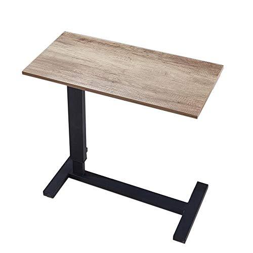 JCNFA Planken Bureau Zijtafel Eettafel Sofa Hoek Multifunctionele Side Table, Kan worden verhoogd en verlaagd, Rechthoek Desktop 81.49 * 15.74 * 35.82in C