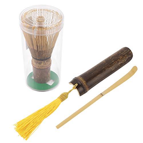 Juego de hacer Matcha, 3 piezas de bambu tradicional Matcha Batidor Cuchara Chashaku Cucharita de te Artesania para el te verde en polvo Ceremonia de Matcha