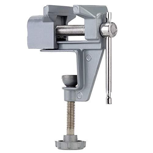 QPLKL Zimmerarbeiten Mini-Tisch Vise Electric Drill Stent Clip-on Schmuck Clamp Vice Tragbarer Schraubstock professionelles Werkzeug for Mini Muttern Drilling (Color : Silver)