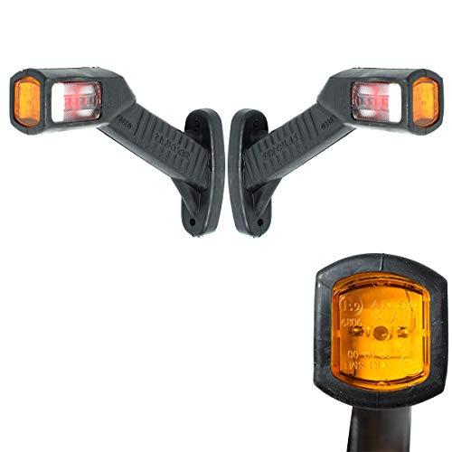 2x LED Begrenzungsleuchten 24V Gelb Rot Weiss Positionsleuchte LKW PKW Anhänger E-prüfzeichen