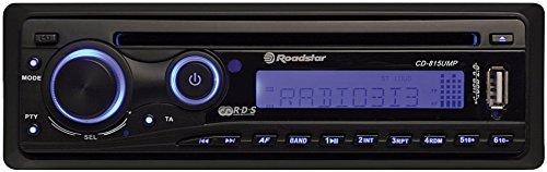 Roadstar CD-815UMP Autoradio (CD, MP3-Laufwerk, Antischock-Funktion, ID3-Tag Unterstützung, 4 x 15 Watt, ISO-Norm, Bedienteilhülle)